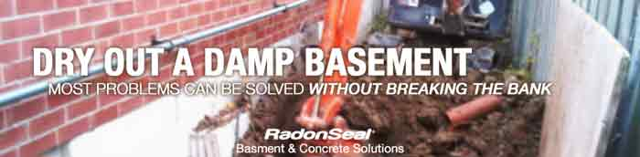 Dry out a damp basement – RadonSeal