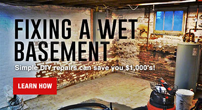 How to Fix a Wet Basement
