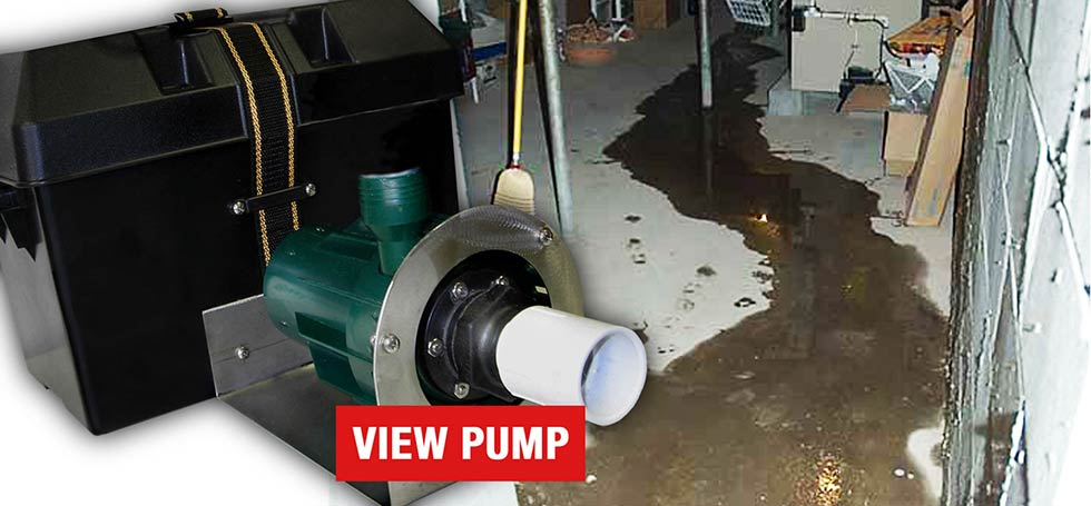 Battery Backup Sump Pump with More Power and Reliability
