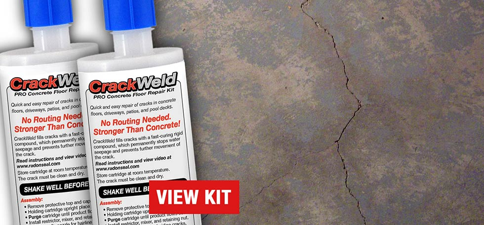 CrackWeld Concrete Floor Crack Repair Kit
