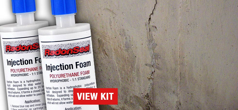 RadonSeal DIY Foundation Crack Repair Kits - Basement Walls